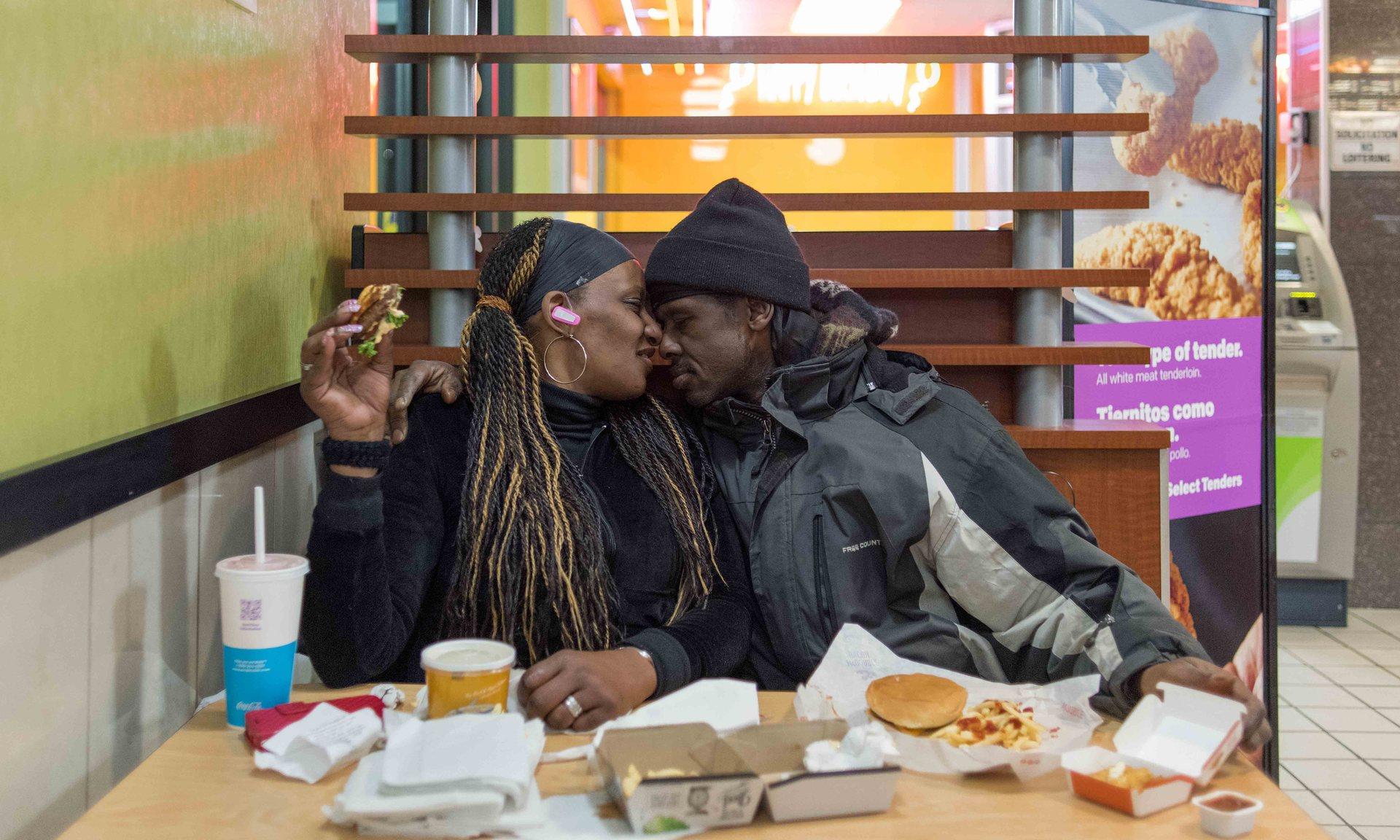Takeesha and Steve, Bronx, New York. Photograph: Chris Arnade for the Guardian