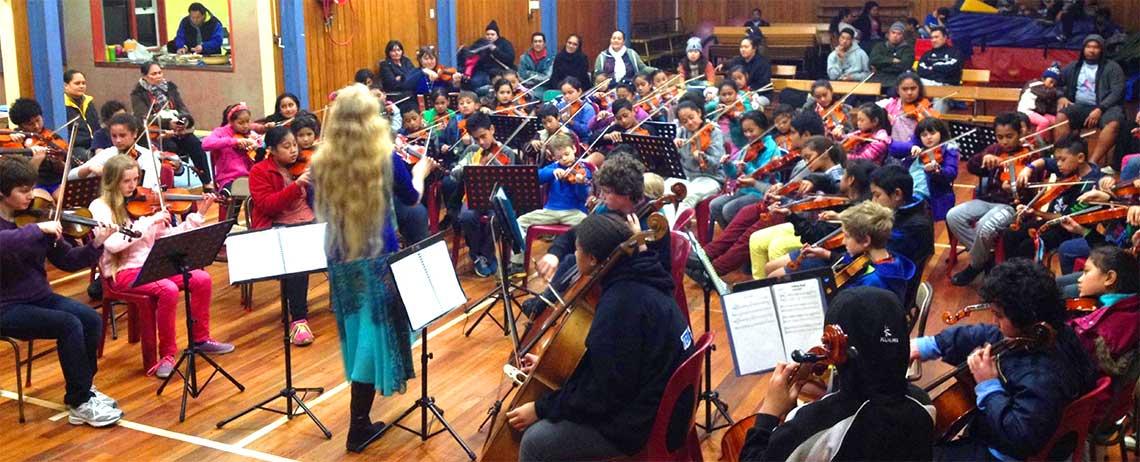 Virtuoso Strings community orchestra, photo from  http://virtuosostrings.flightdec.com/