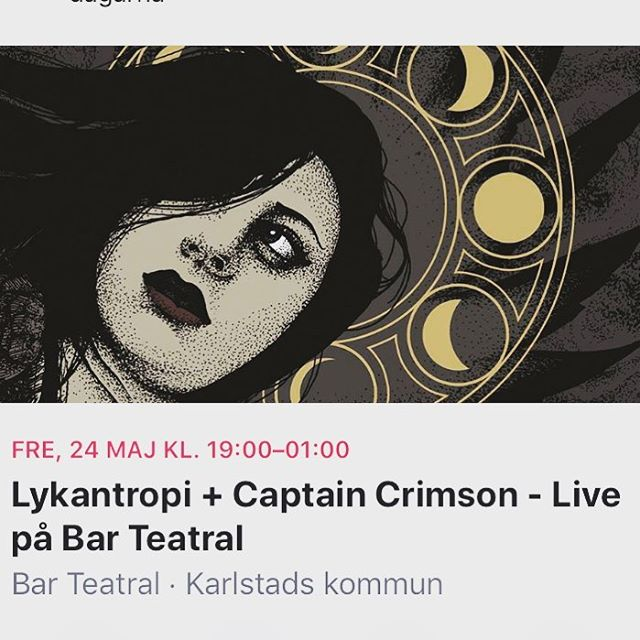 Don't miss out! #captaincrimson #lykantropi #karlstad #röj