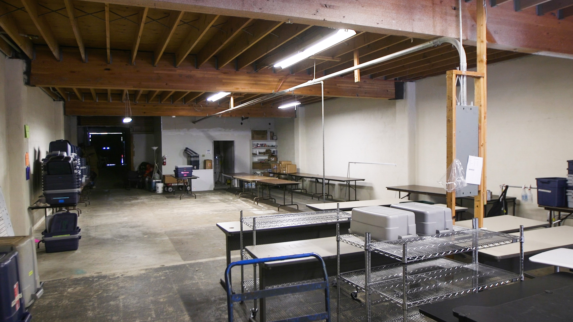 Unfinished space that will be turned into Early Childhood Education classrooms.