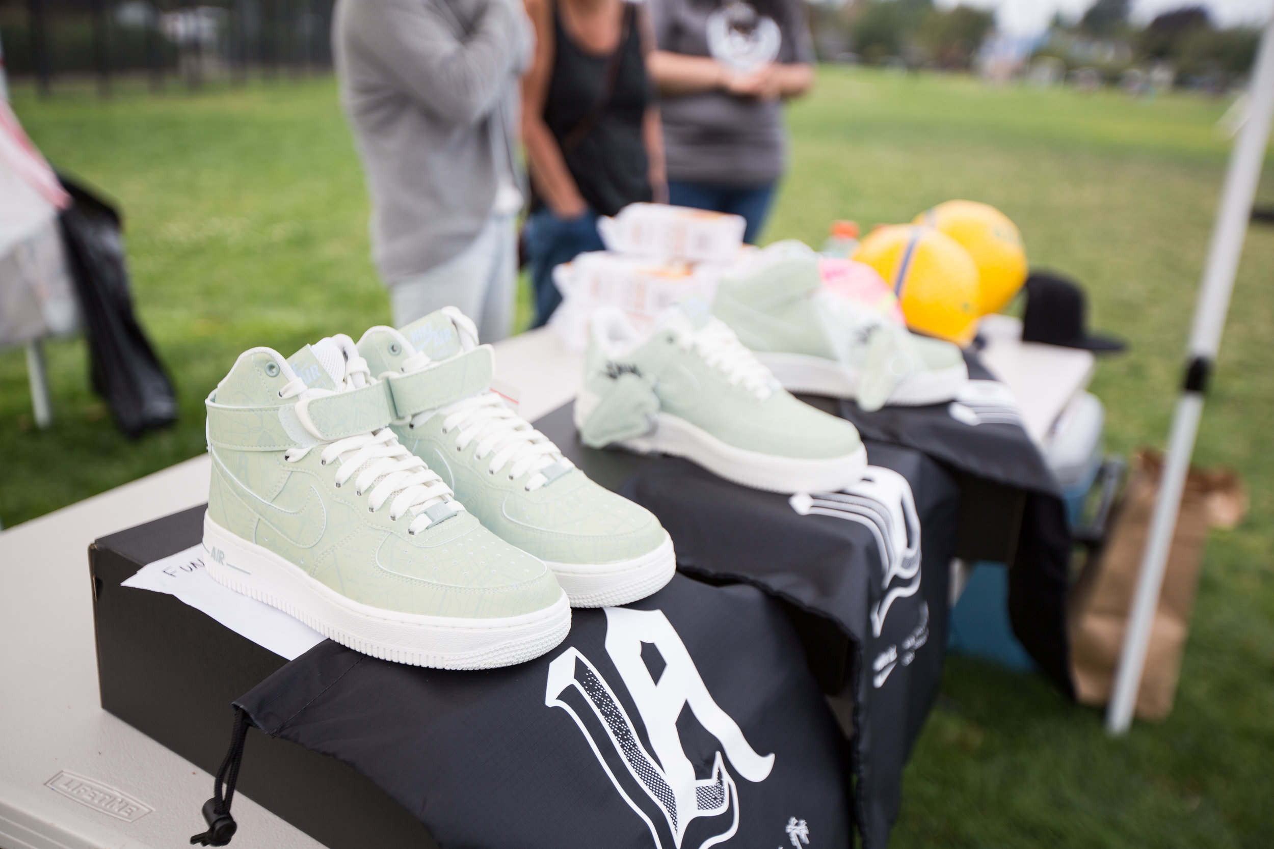 Nike's donated raffle items.