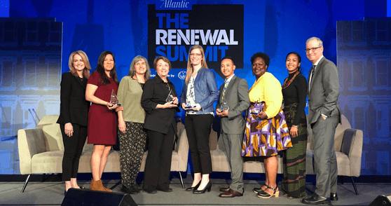 Posing with Ron Brownstein and the other winners of the 2019 Renewal Award.png