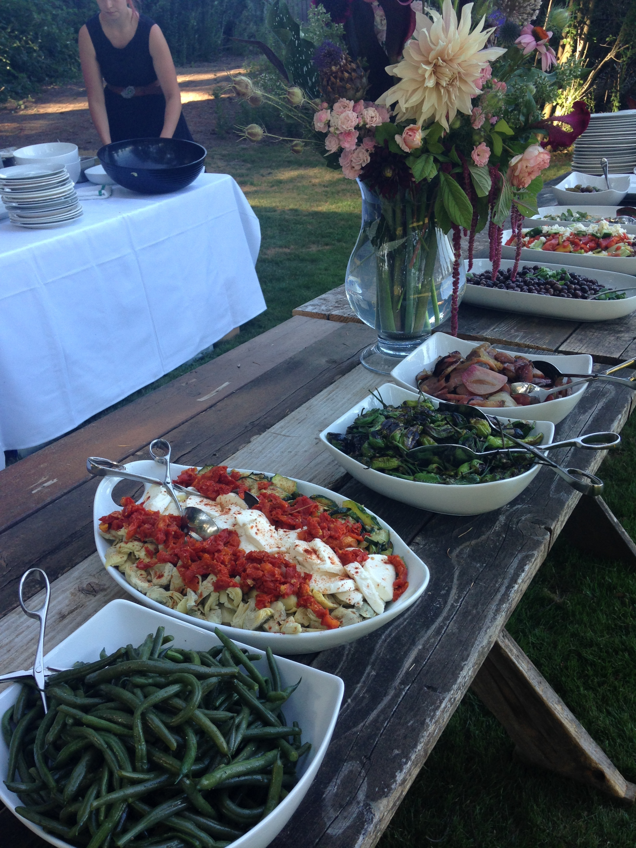 An example of a wedding dinner at a private residence on the river.....