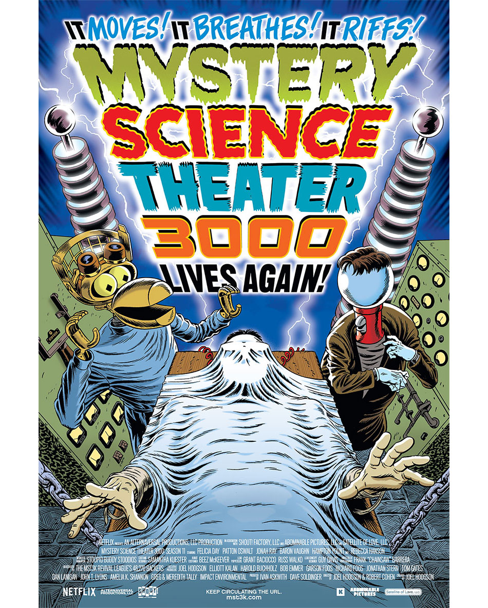 MST3K Rowsdower Action Comics Poster