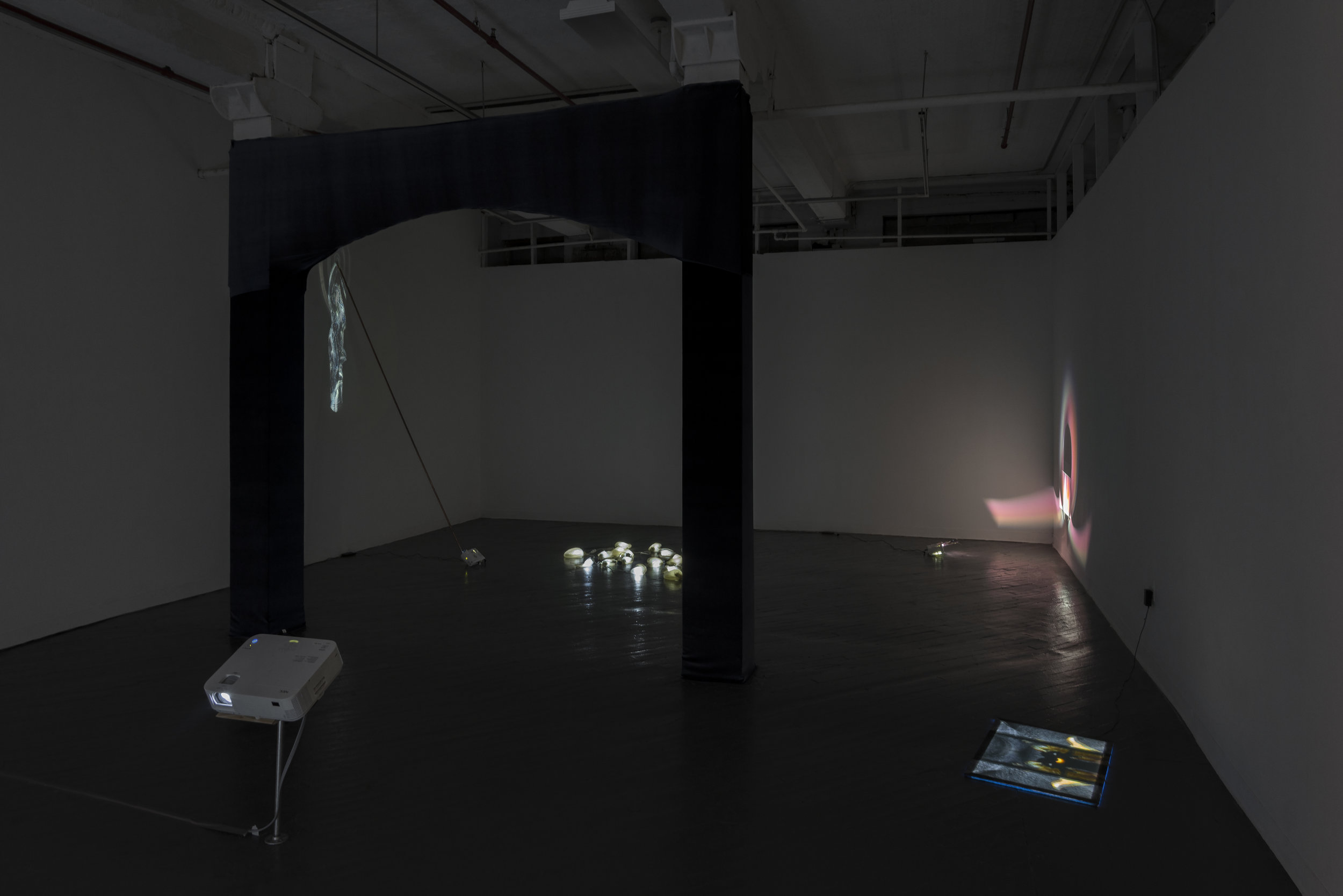 Groundwater: A Piece For Four Hands , installation view