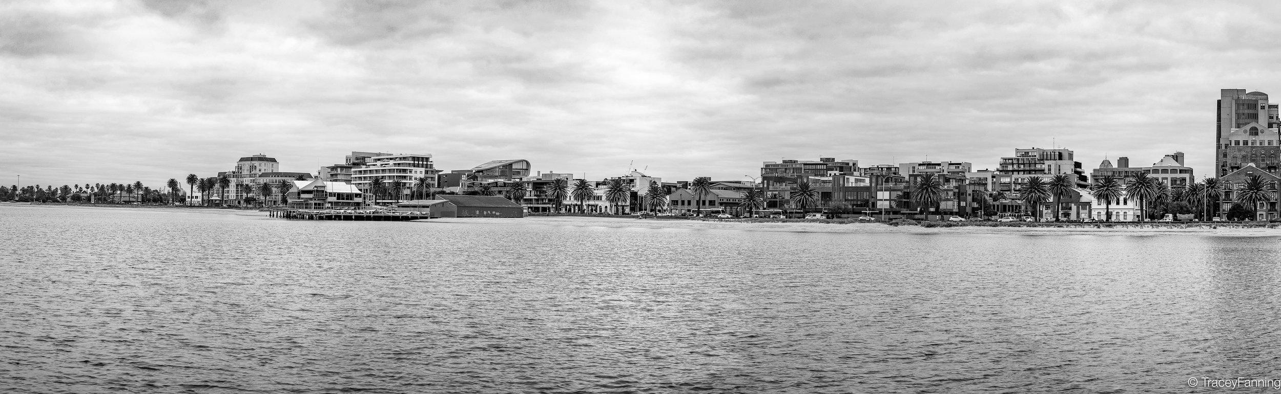 Port Melbourne Panorama BW.jpg