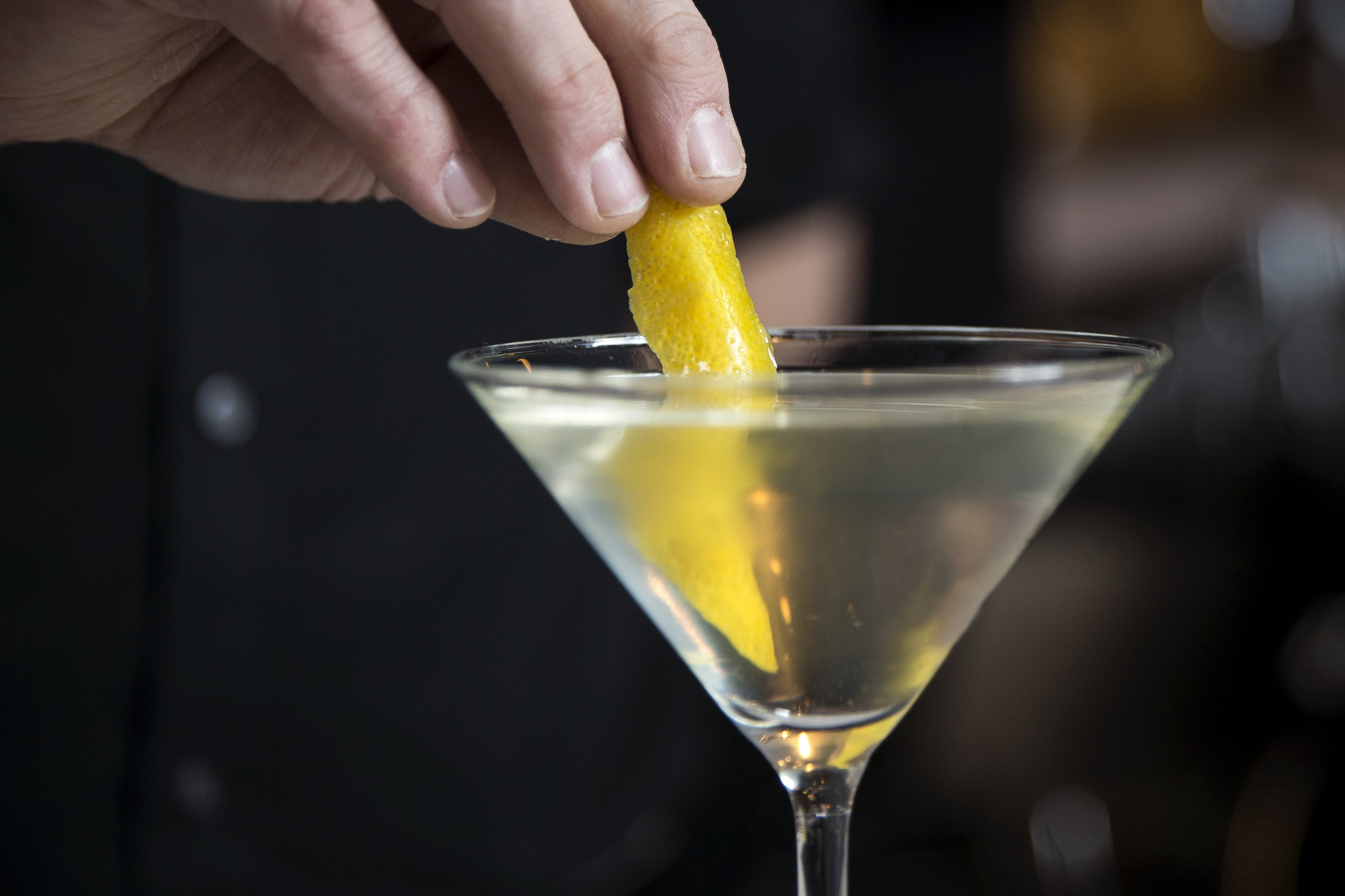 Oyster House Martini with lemon rind