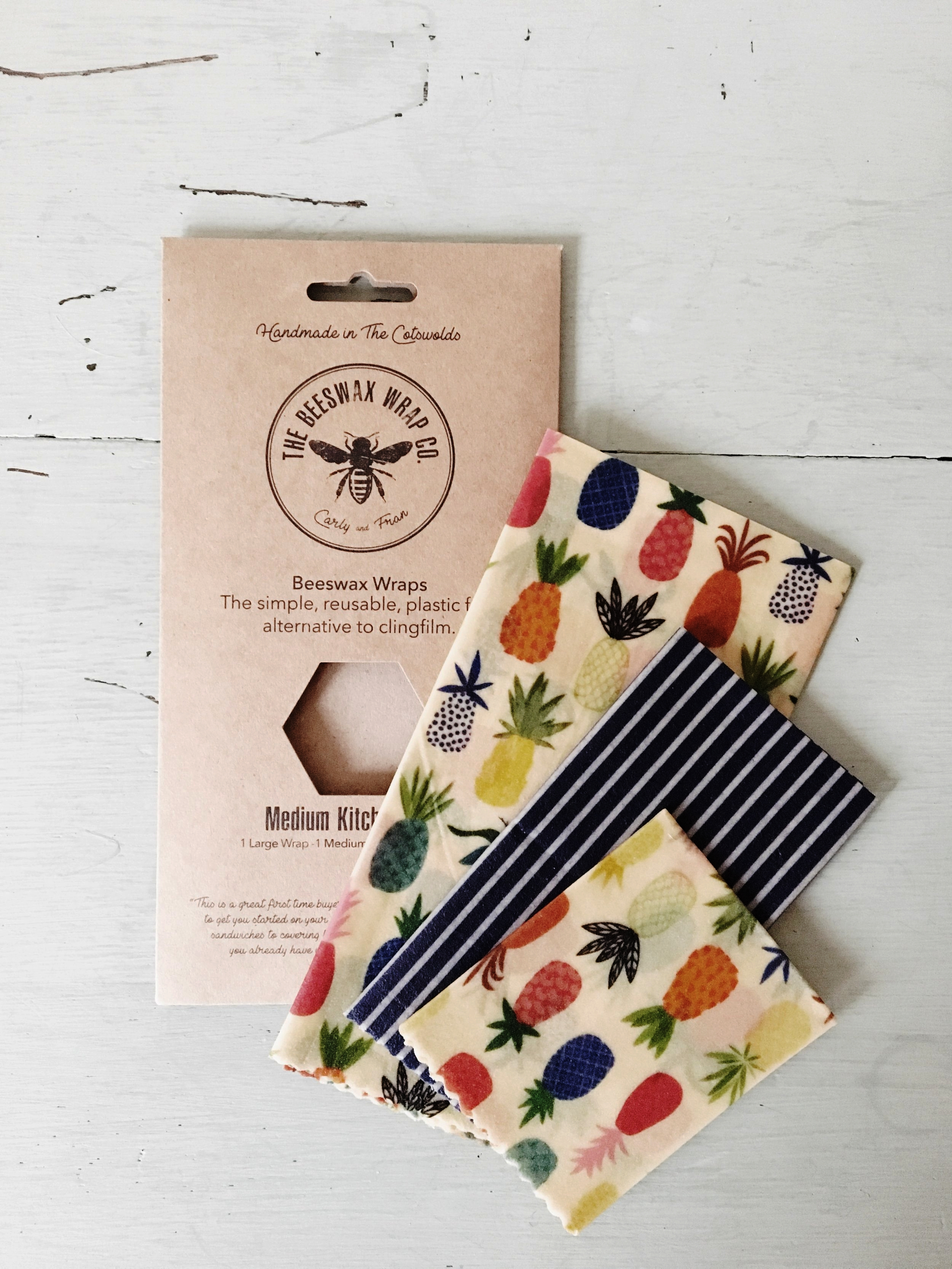 Medium Kitchen Beeswax Wrap Set by The Beeswax Wrap Co. £20 [Get 10% off your wraps with code ELSA10 until end of November]