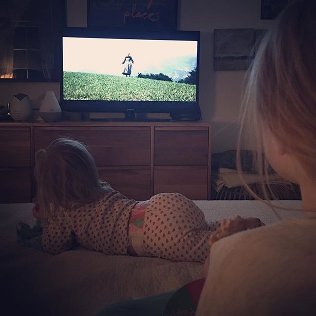 When one #love meets another. #thesoundofmusic #movienights #fridaynight