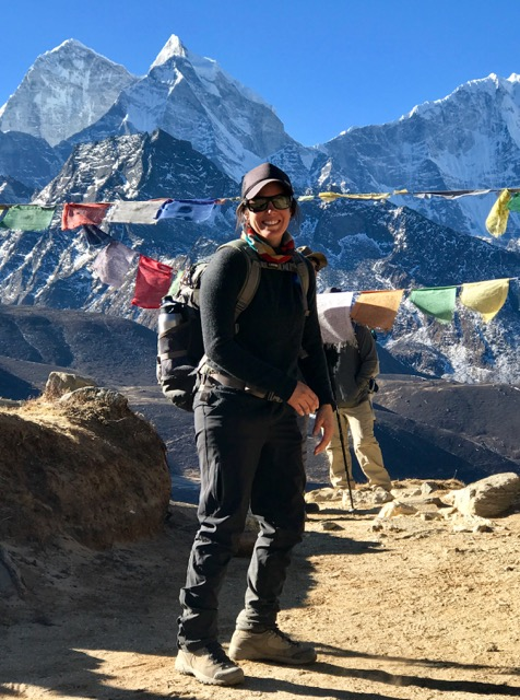This is Mandy descending from Everest base camp!!!