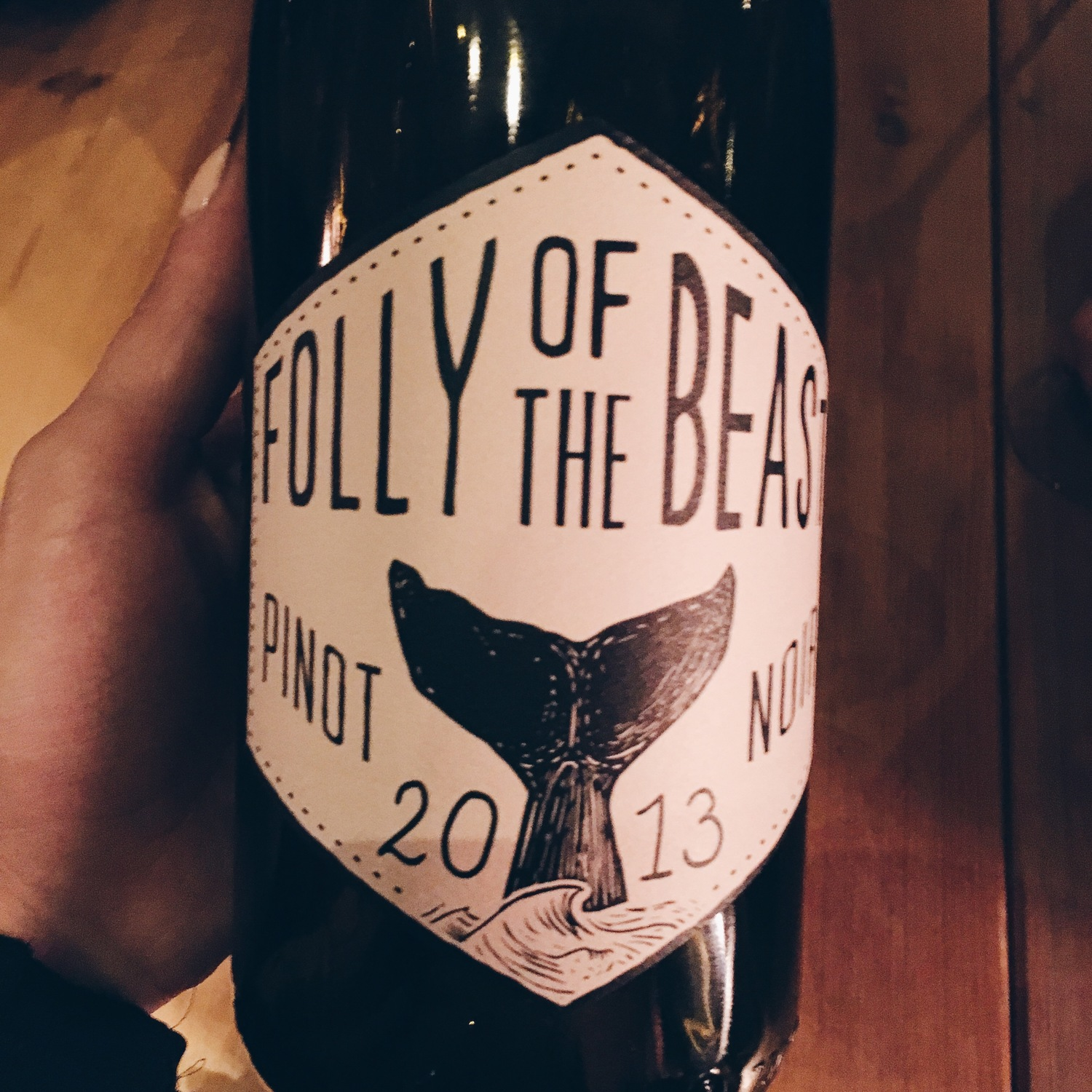 New love for this Pinot Noir from the central coast of CA, Folly of the Beast. Pinot Noir is my favorite red.