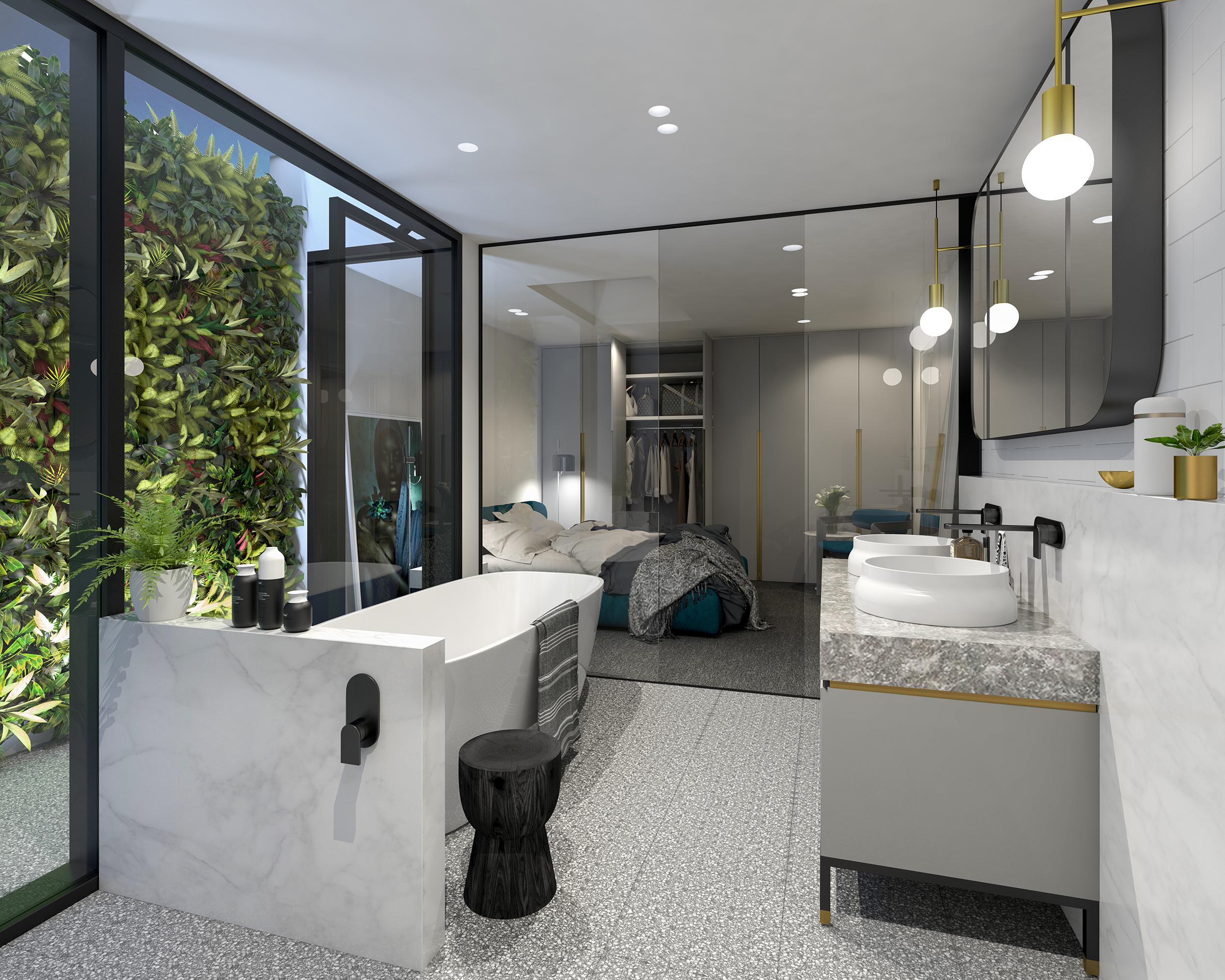 Well St - Apartment 2 - Ensuite To Bedroom - Dark Scheme MR.jpg