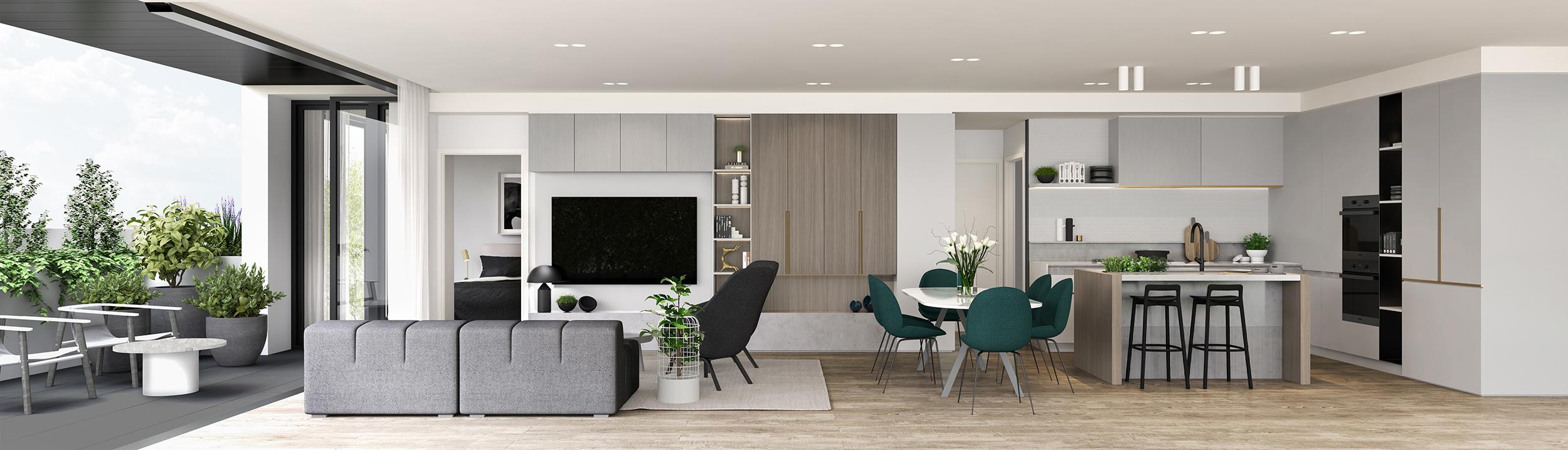 Well St - Apartment 3 - Living - Section Light MR.jpg