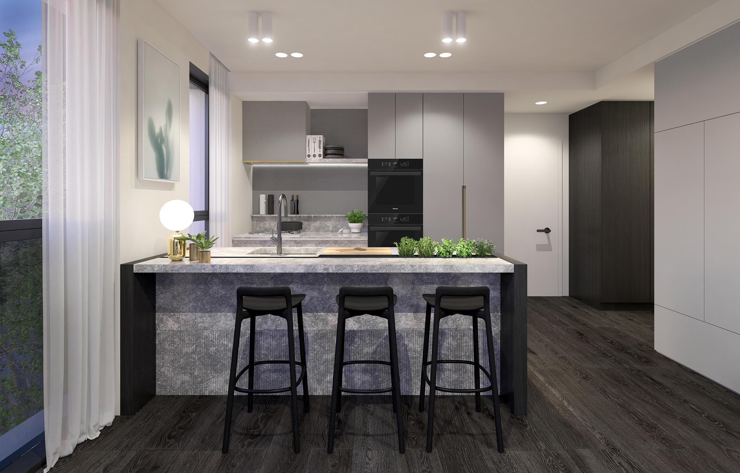 Well St - Apartment 4 - Kitchen - Dark Scheme MR.jpg