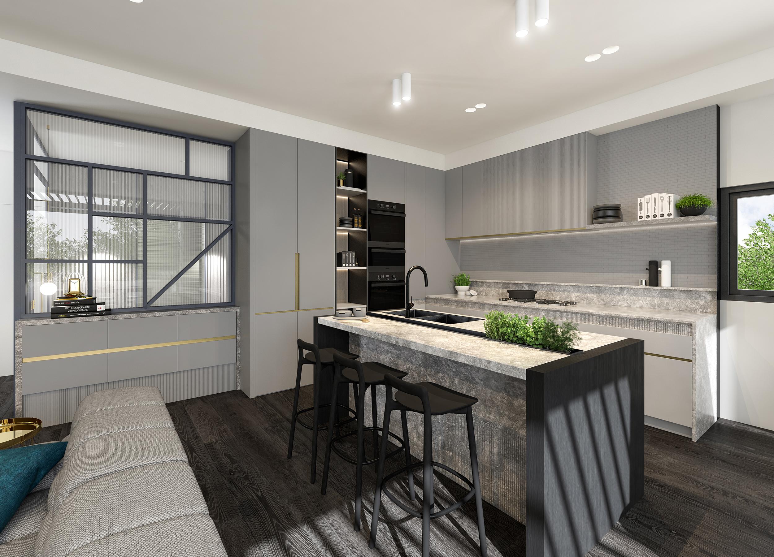 Well St - Apartment 5 - Kitchen - Dark Scheme MR.jpg