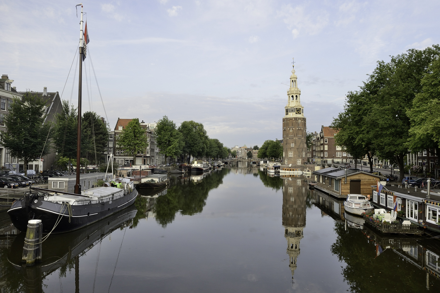 A photo of one of the canals in Amsterdam