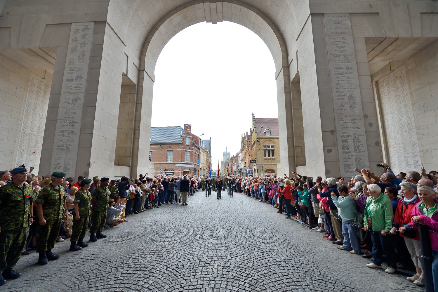 Corporal Andrew Wesley during Remembrance Day ceremonies at Menin Gate in Ypres, Belgium
