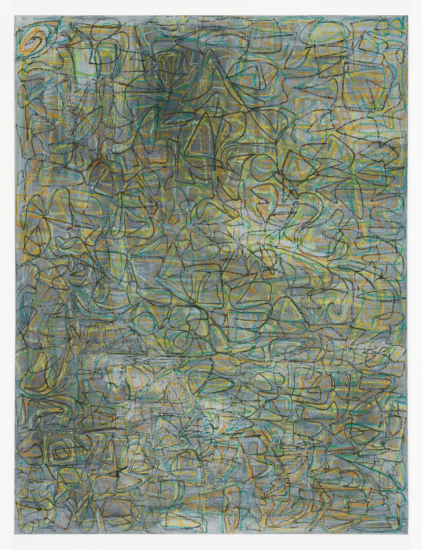 "Contiguity (Laminous)   Acrylic & pastel on canvas  40"" x 30"""