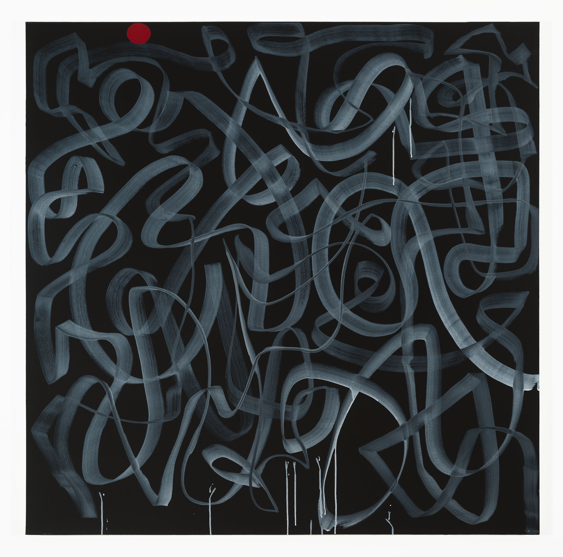 "Contiguity (Major)   Acrylic & graphite on canvas  60"" x 60"""