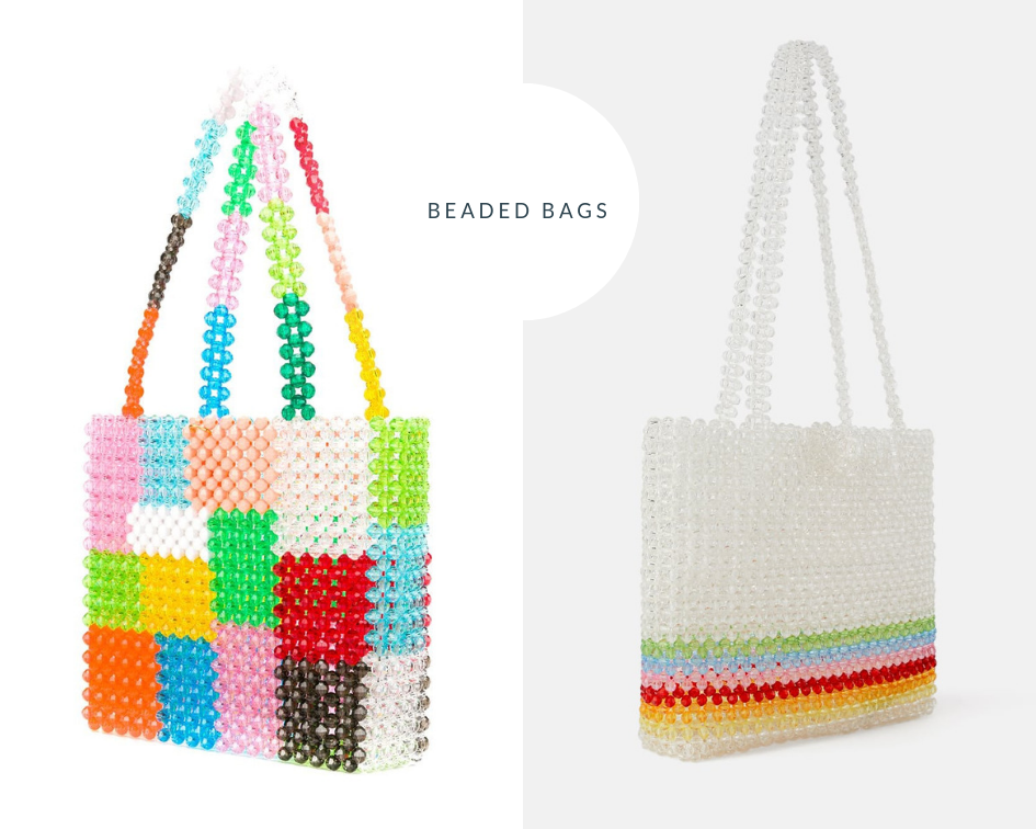 Susan Alexandra Beaded Bag  |  Zara Shopper Beaded Bag