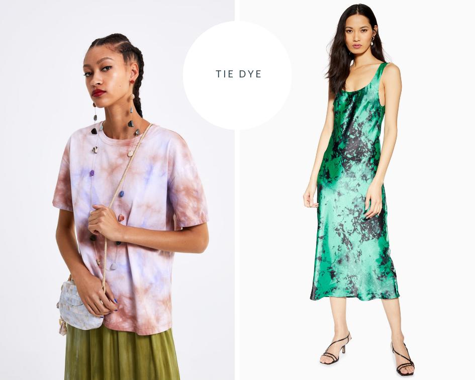 Zara Tie Dye Shirt  |  Topshop Tie Dye Slip Dress