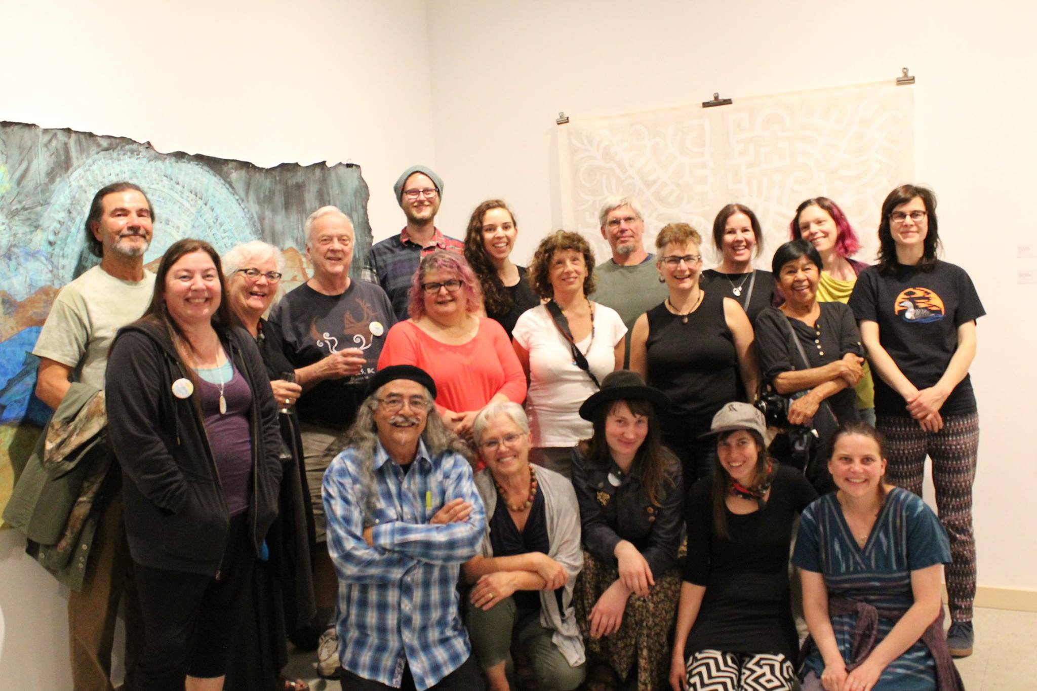 The artists of the Toni Onley Artists' Project who just wrapped up ten days of art making in Wells.