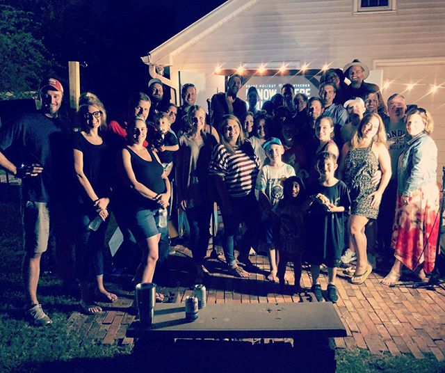 This weekend, our last Nashville house show of the tour happened.  Hayes and Meg blew us away with brats, burgers, brew, and a ton of spectacular friends. Y'ALL, Thanks for making this an awesome night! Y'all's encore & prayer for us were so memorable.  Thanks to @millcreekbrewco for volunteering all of the beverages! We appreciate it.  #houseshow #nashville #concert #friends #backyard