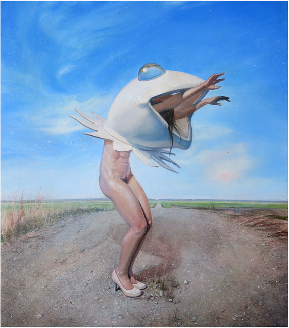 Frog Ballet, 14 x 17 inches, oil on panel, 2014 copy SM.png