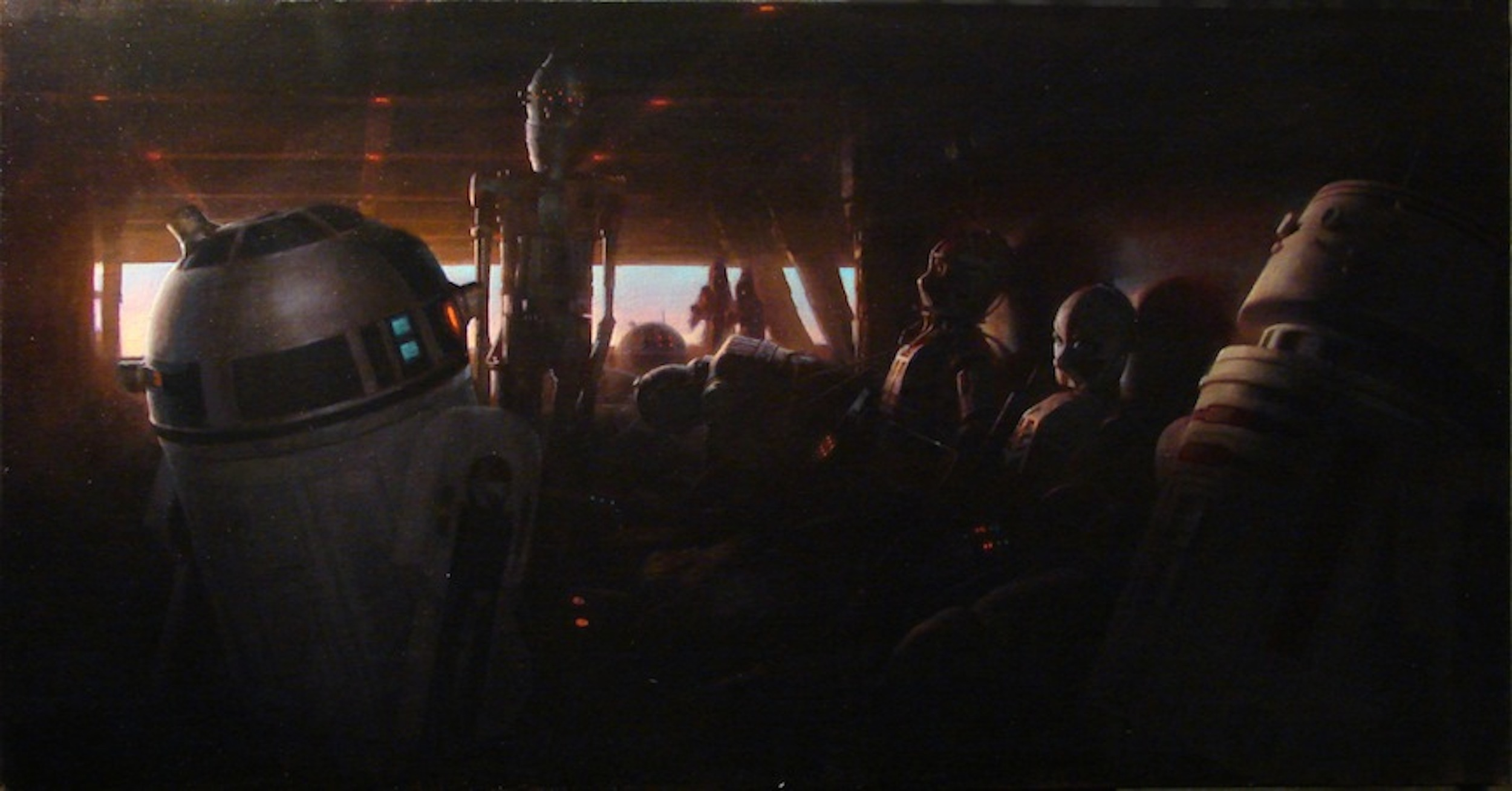 """Dusk on Tatooine"" , 2010, oil on canvas, 22 x42"""