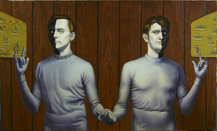 """Bele and Lochimed tie the Knot and Save the Universe"" , 36 x 60, oil on canvas, 2005"