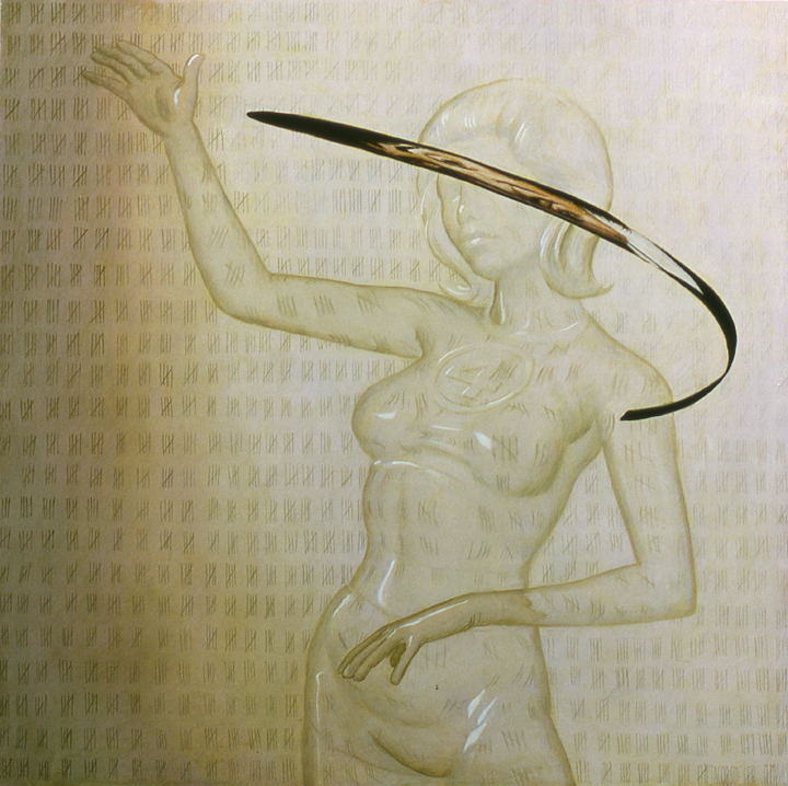 """Invisible Woman"" ,36x36in"", Oil on Canvas, 2004"