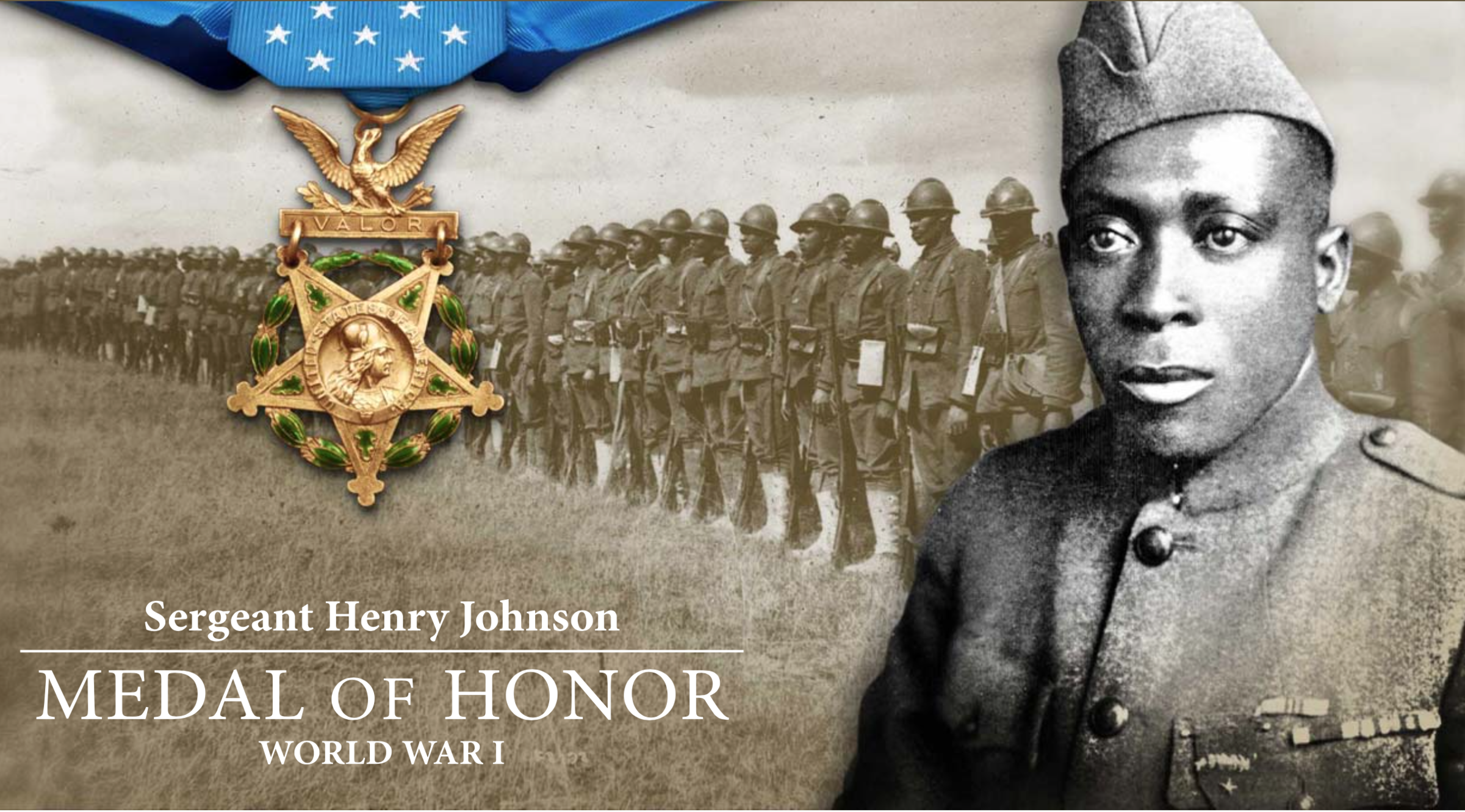 """""""Black Death in America"""" is based on a true story about a soldier in World War 1:    Sgt. Henry Johnson of the 369th Infantry Regiment was awarded the French Croix de Guerre for bravery during an outnumbered battle with German soldiers, Feb. 12, 1919.    Johnson was posthumously awarded the Purple Heart in 1996 and the Distinguished Service Cross in 2002."""