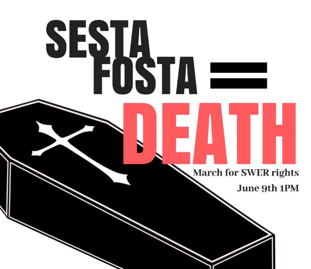 Saturday, June 9th! Put on your mourning and join us in the park blocks for a funeral for safer sex work
