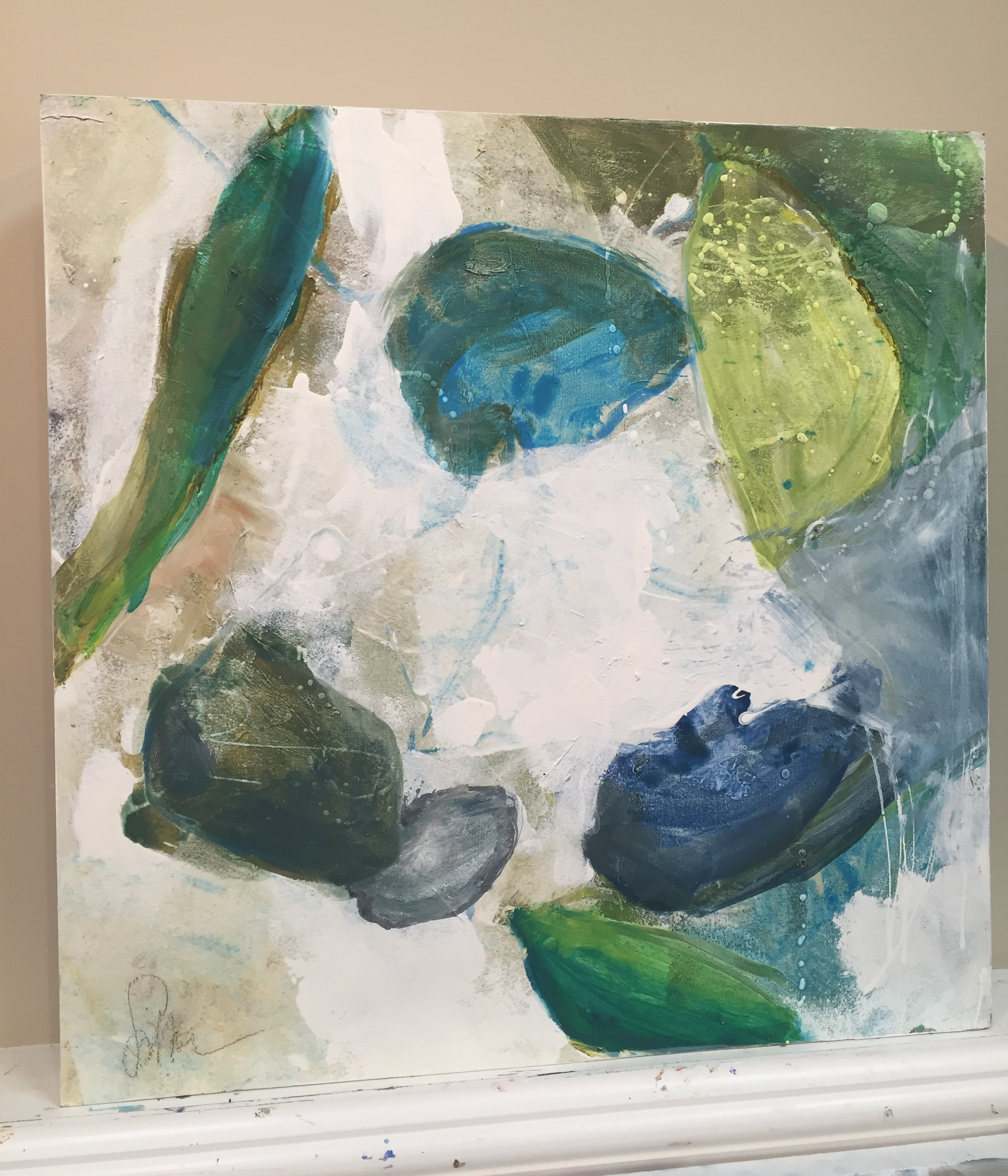 Emerald |  24x24 | oil on wood | $1,950