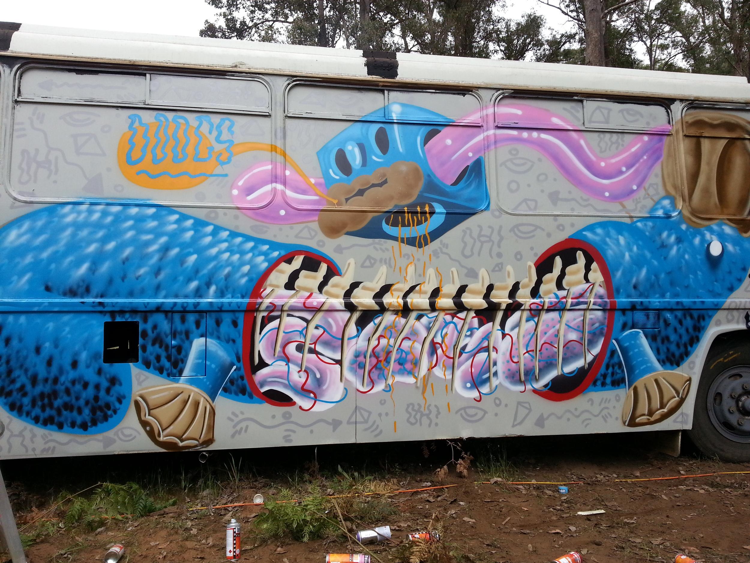 Camp Doogs Festival 2015  Aerosol on school bus