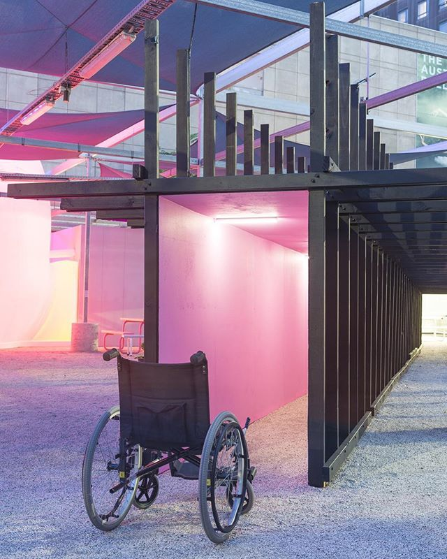 Hostile ♿️ Infrastructure 🏦 opens this Friday, 6-9pm @testinggrounds !!! Lots of work went into this one so if you're in Melbourne come down and help me celebrate. Supported by @cityofmelbourne arts grant program, @arup.lighting.melbourne @light_project @fisherlane26 📷 @keelanohehir