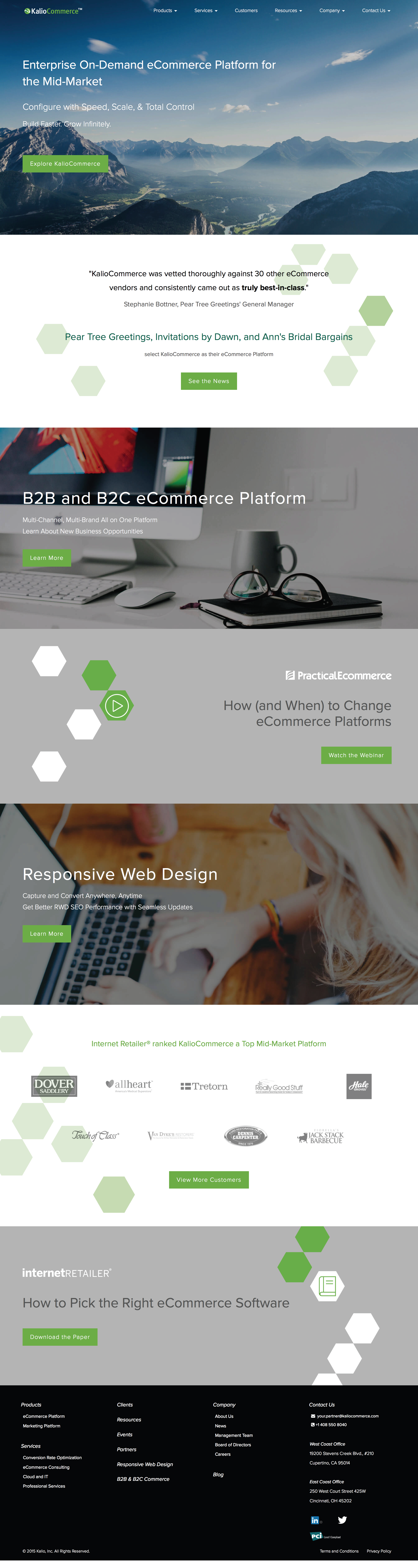 KalioCommerce Website
