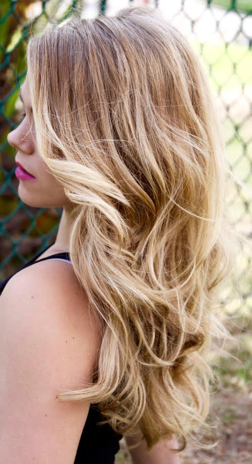 Maria Milanes Hair - Long Hair - Blonde Highlights, Valencia, Santa Clarita