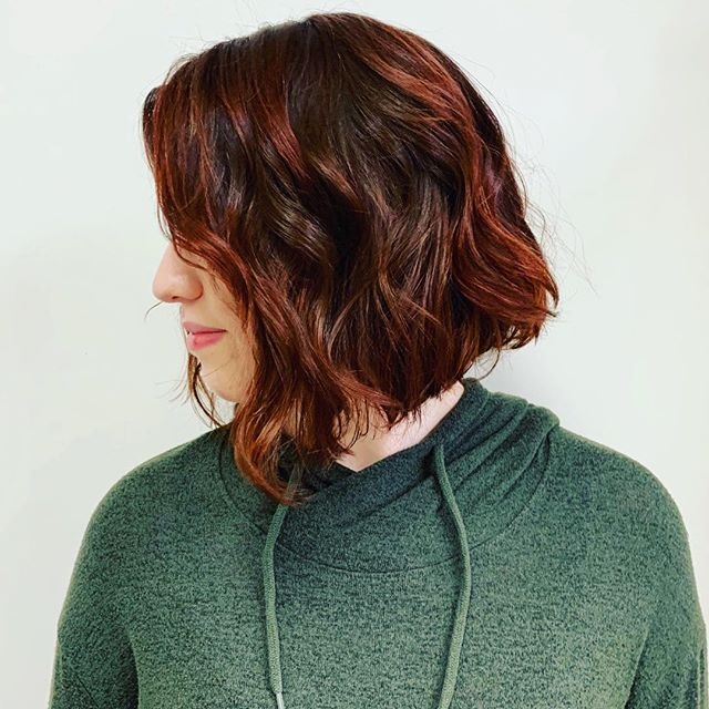 Maria Milanes Hair - Lob Cut, Beachy Waves, Red Hair, New Cut, Valencia