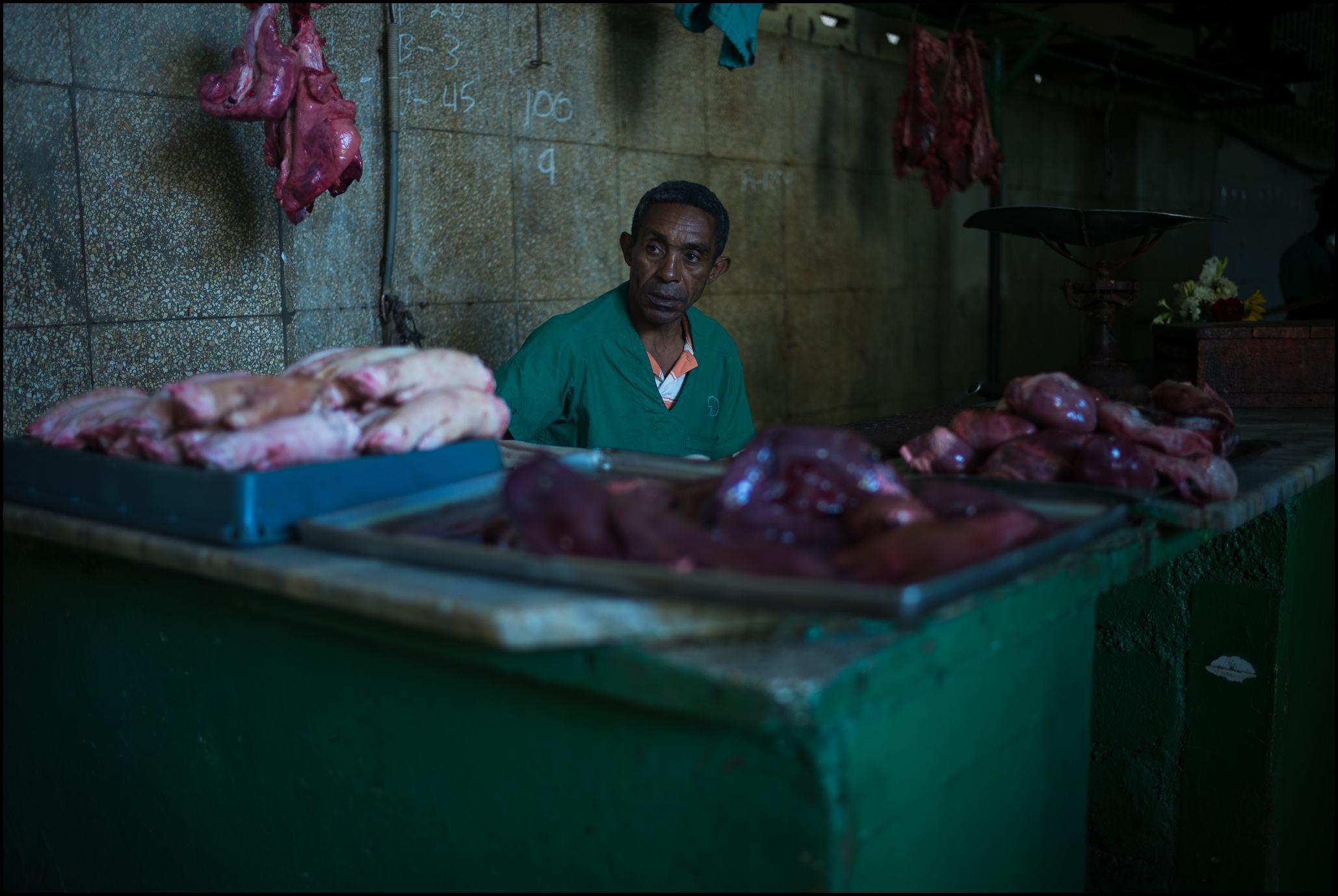 Meat Vendor, Egido Market, Havana