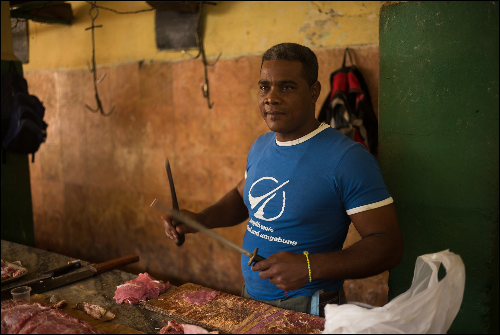 Butcher, Egido Market, Havana