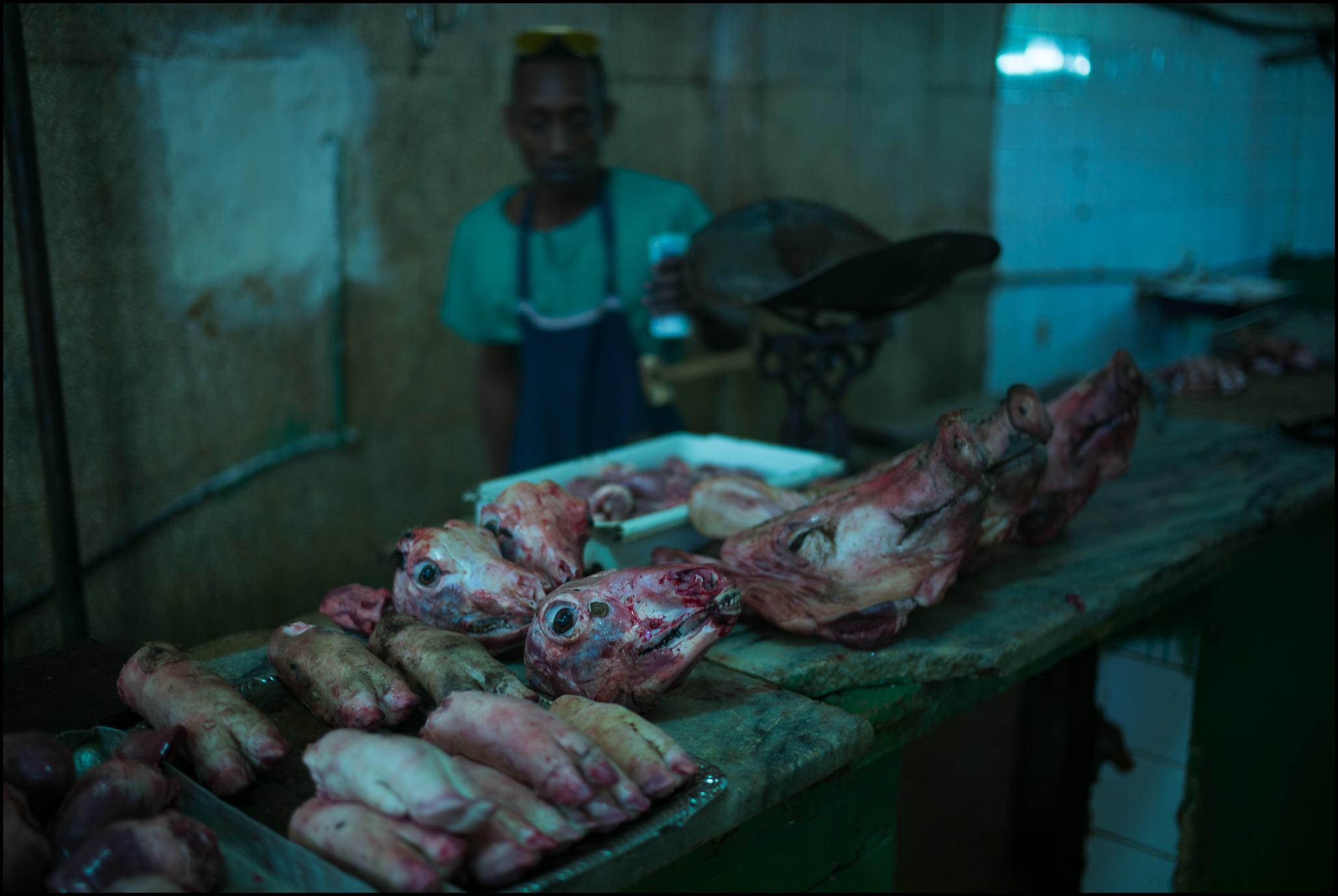 Meat Display, Egido Market, Havana