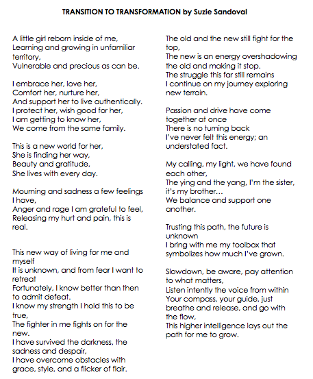 TRANSITION TO TRANSFORMATION Poetry By Suzie Sandoval.png