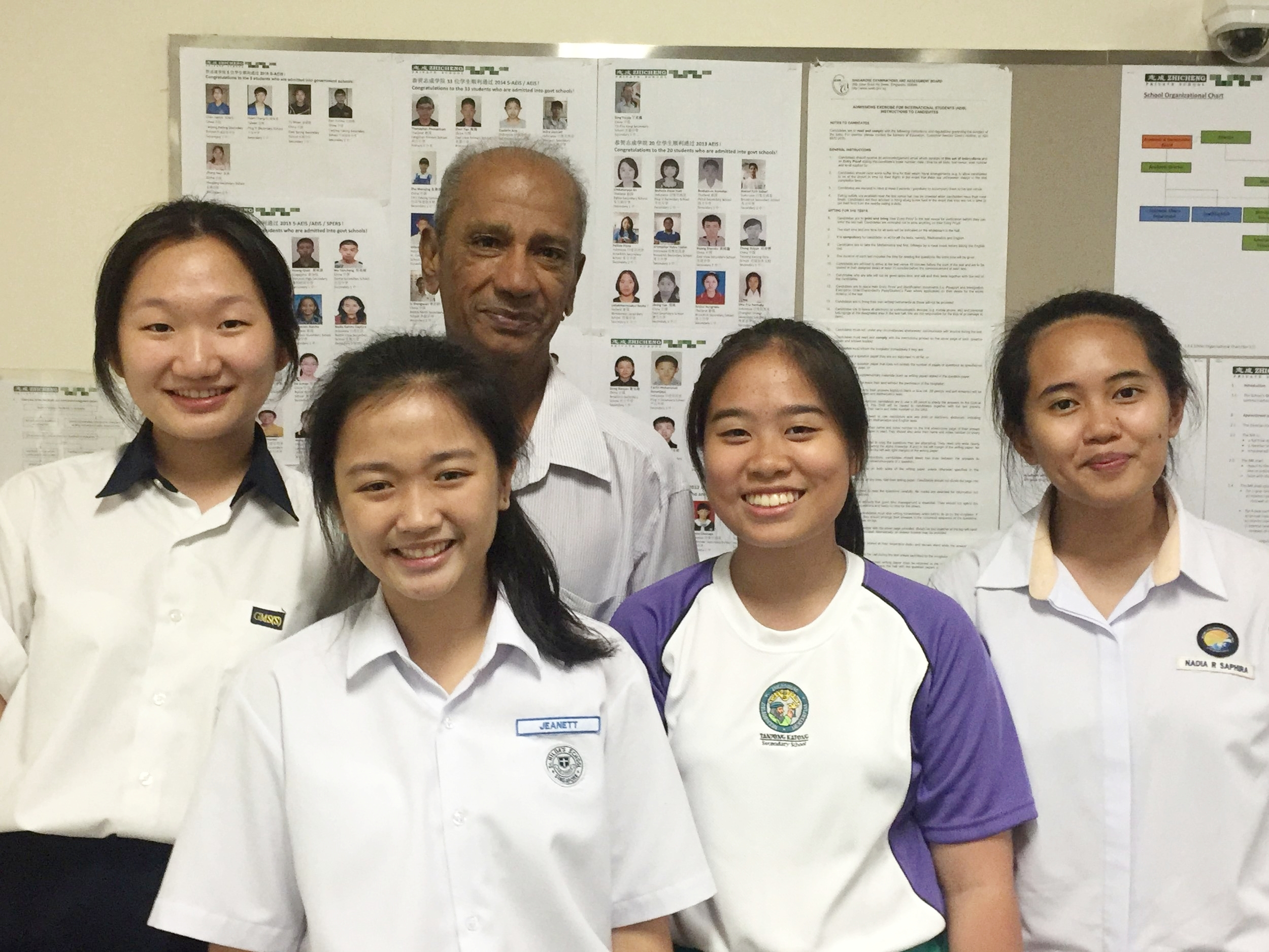 Ex-students with Mr Gasper.JPG