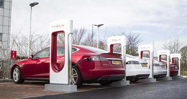 tesla super chargers