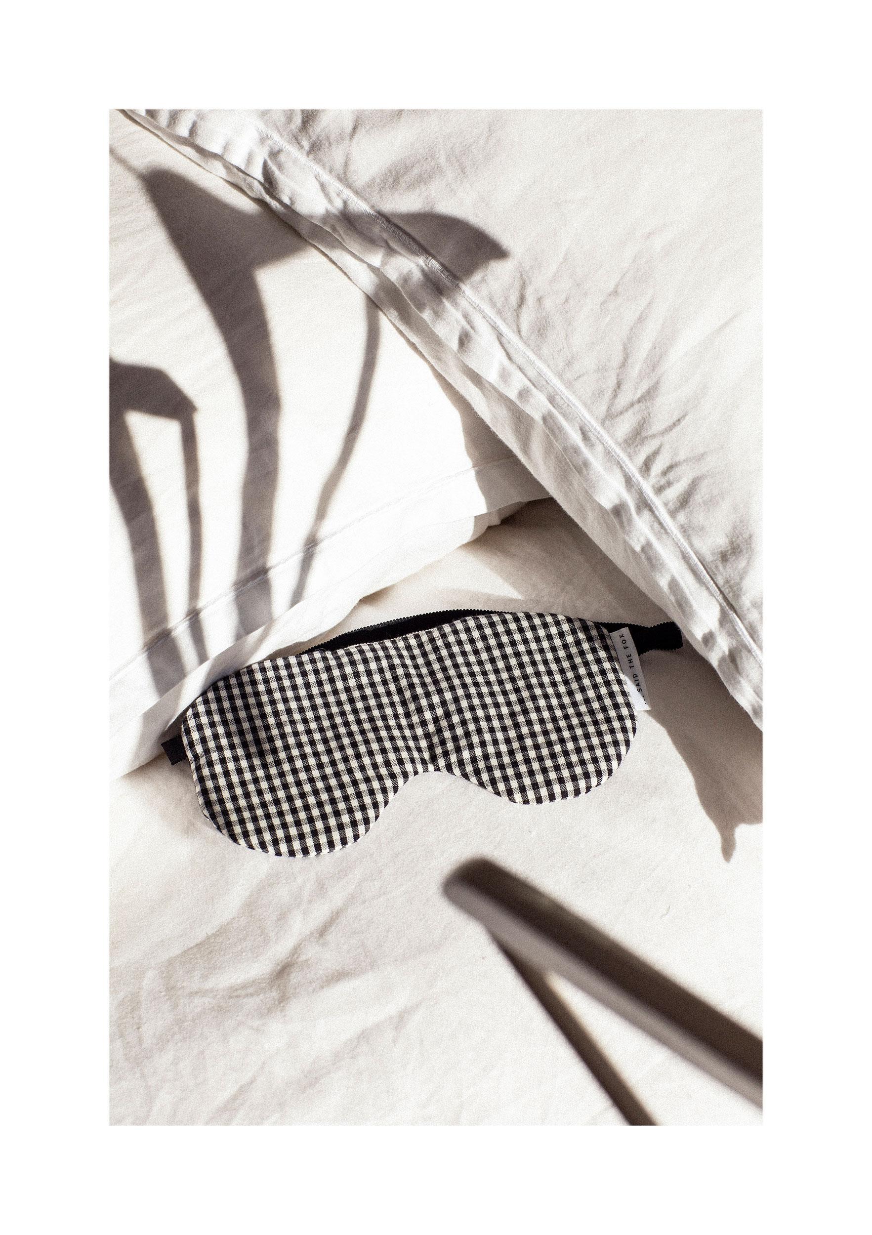 SAIDTHEFOX-lookbook-organiccotton-GinghamCheck-sleepmask