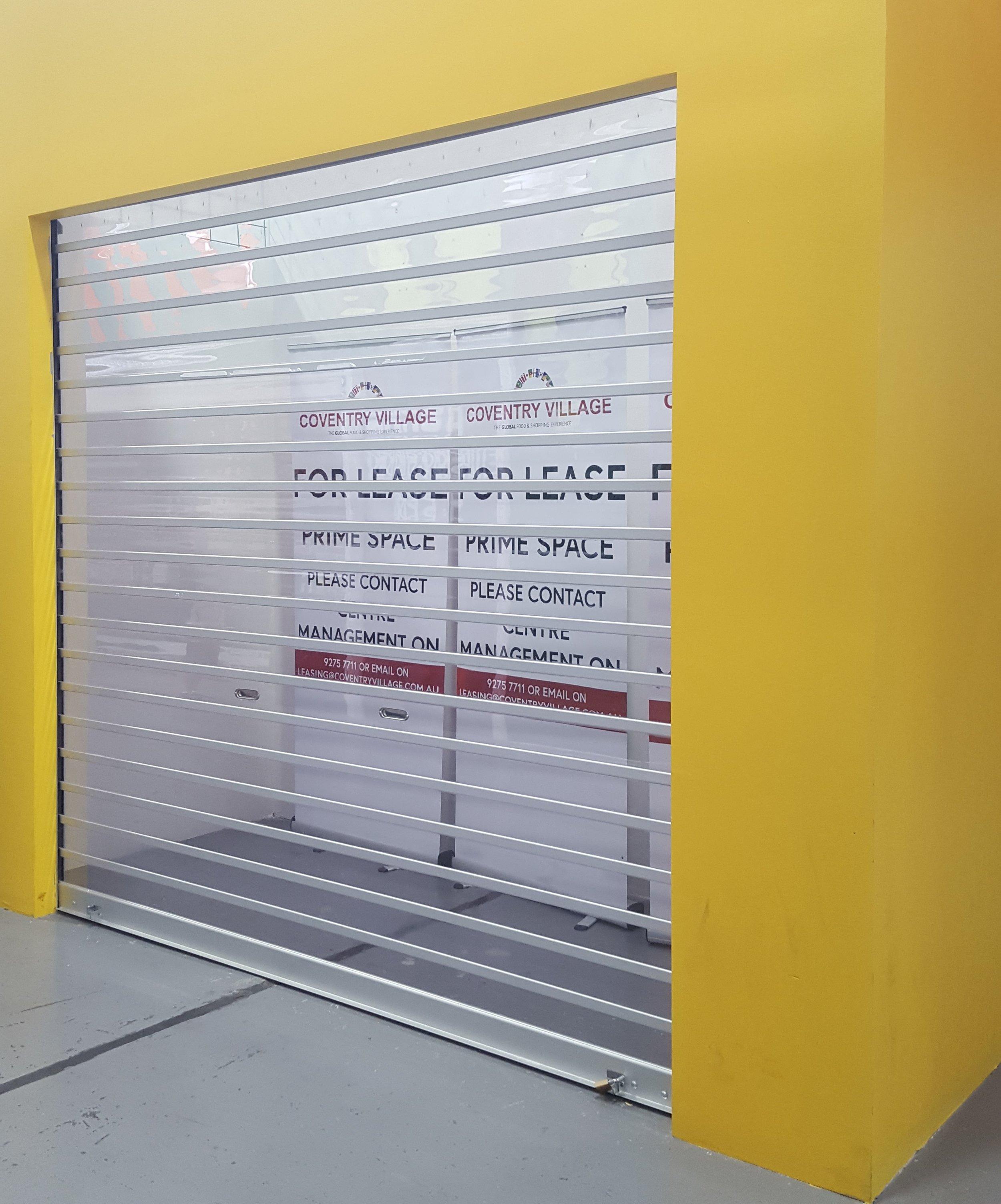 Clear roller shutter