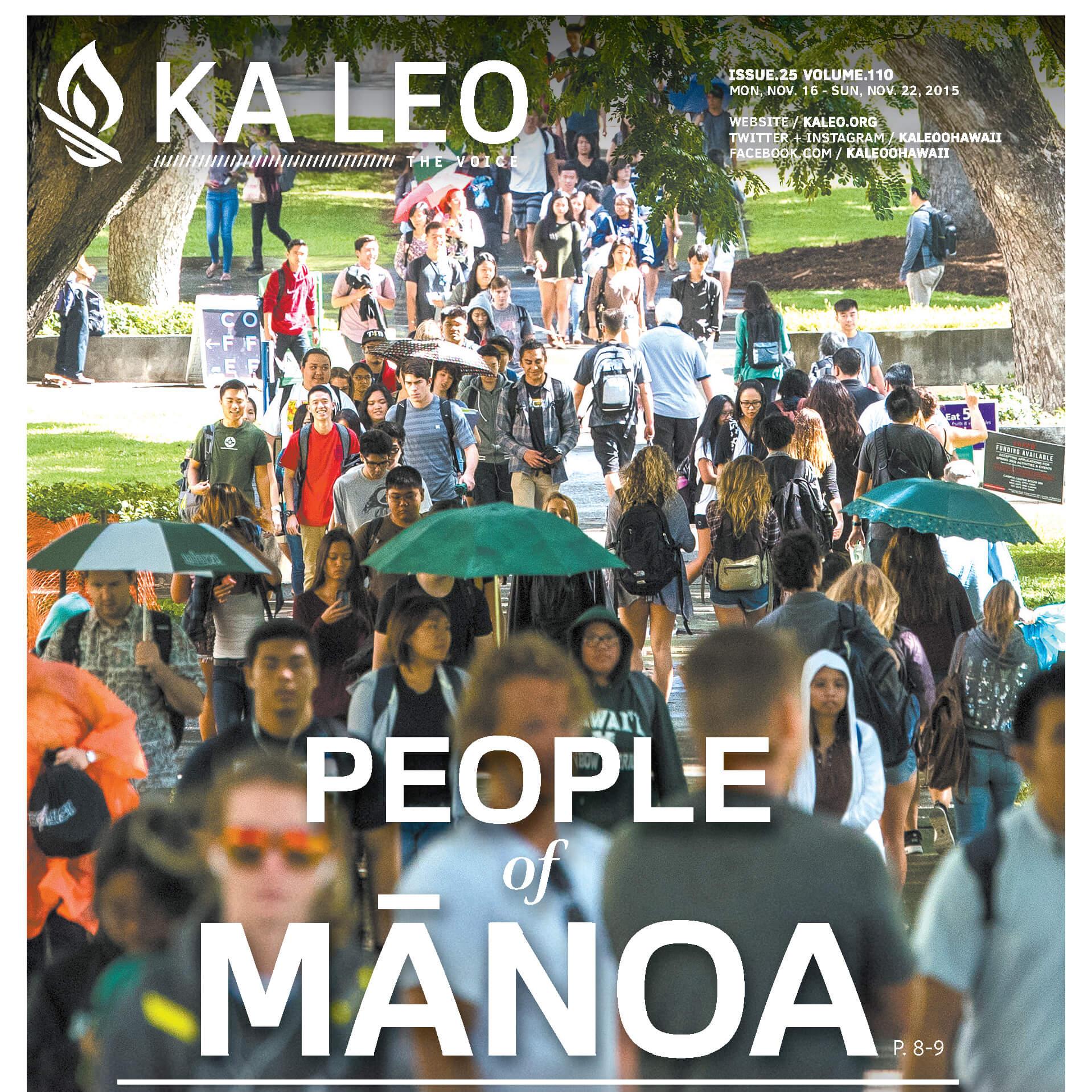 """""""PEOPLE OF MĀNOA"""" - FOR KA LEO O HAWAII"""