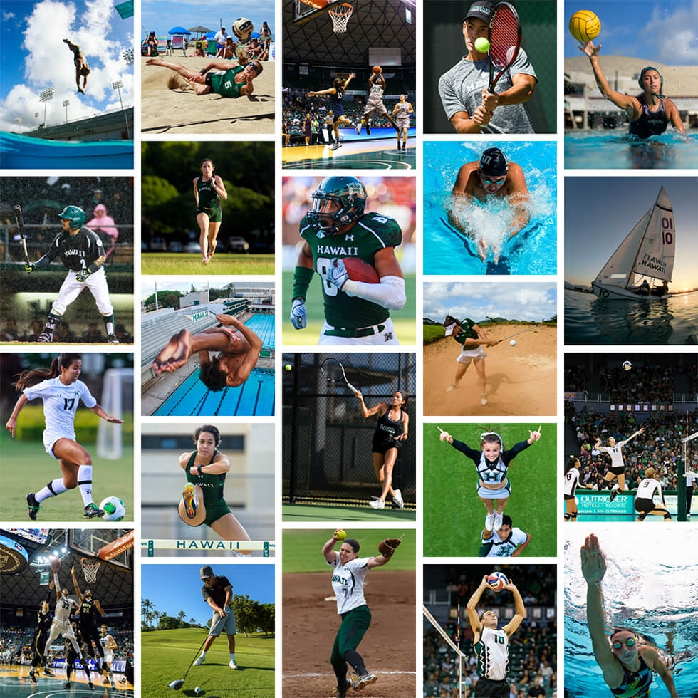 """""""THE ART OF COMPETITION"""" - FOR HAWAII ATHLETICS"""