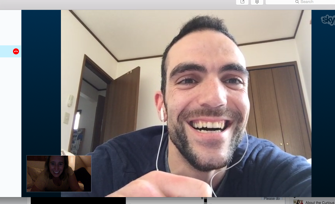 Ricardo and I recording our intercontinental podcast